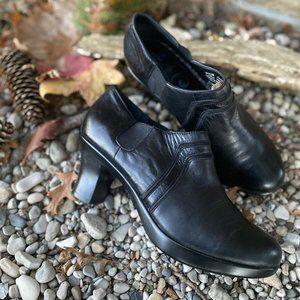 Dansko Bennett Women's Black Leather Shoes 38